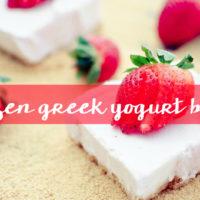 Frozen Greek Yogurt Bars