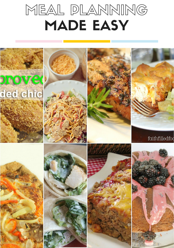 meal planning made easy collage week 1