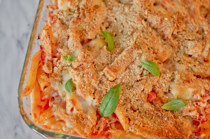 chicken parm pasta bake-4
