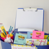 Create a Caddy Filled with School Supplies