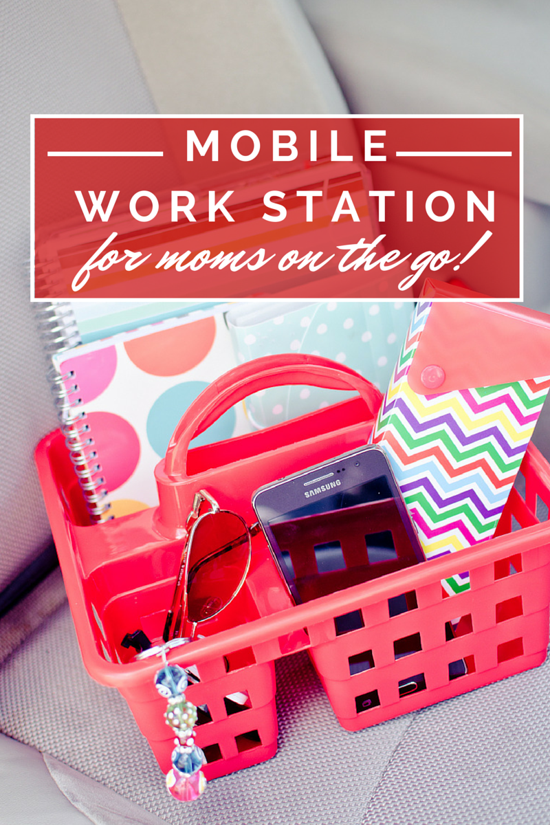 mobile work station for moms on the go
