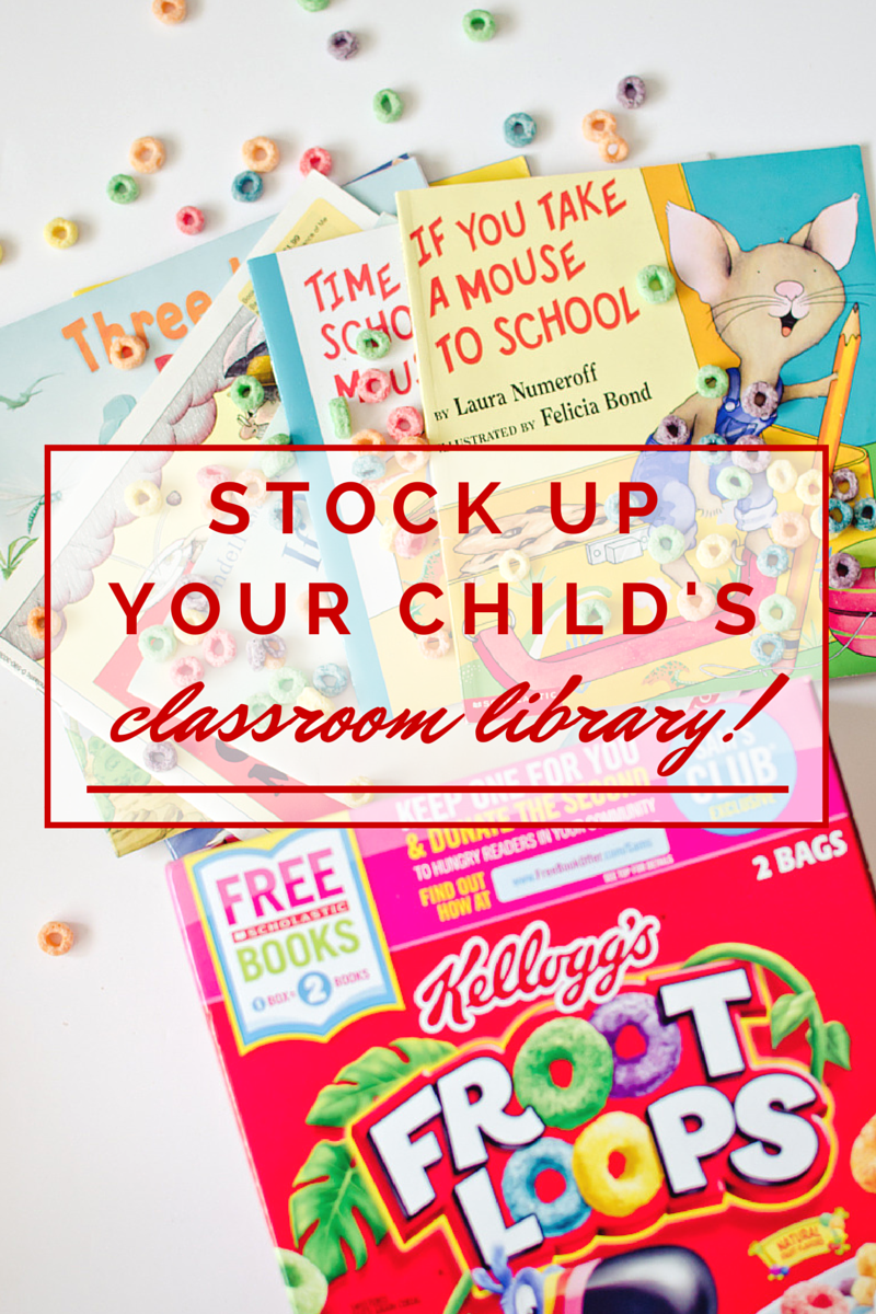 stock up your child's classroom library