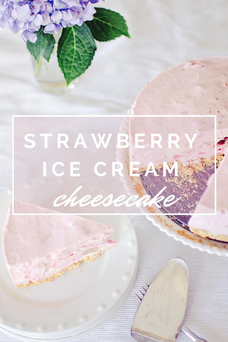 strawberry ice cream cheesecake (1)