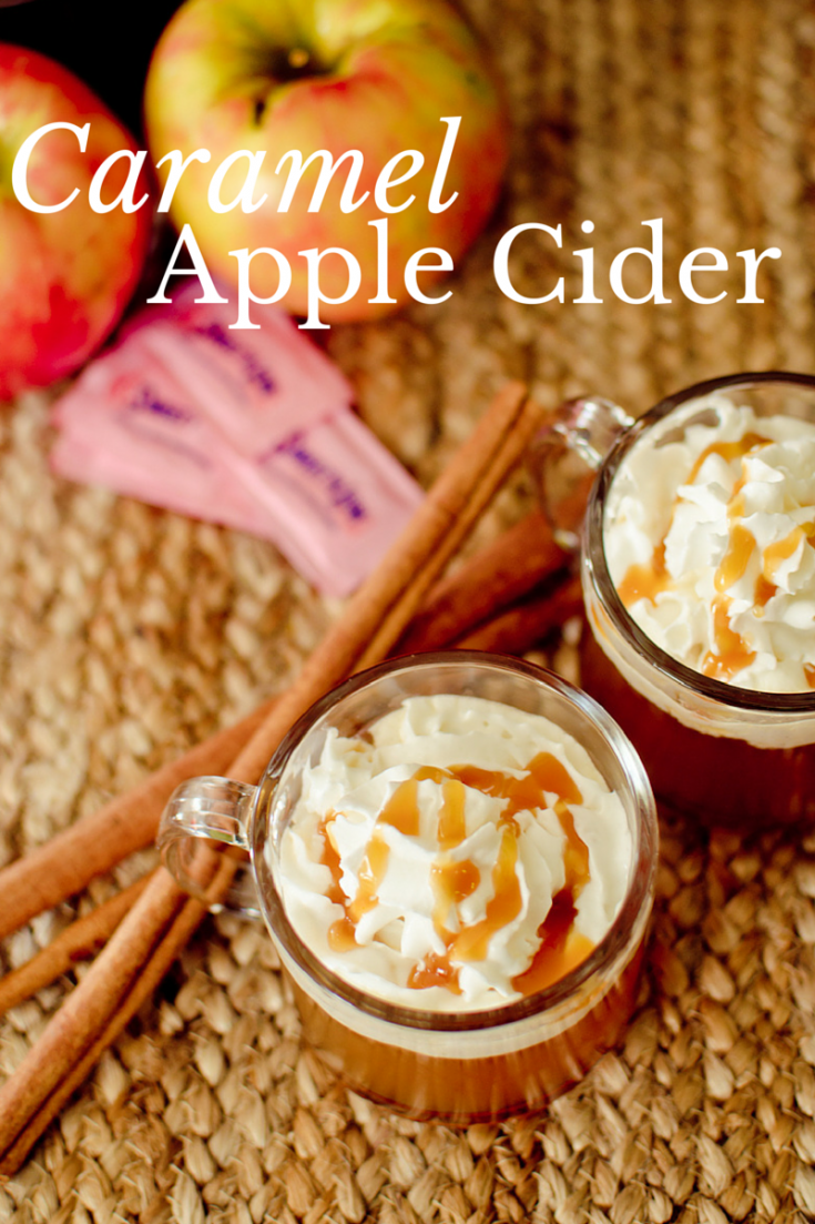 Caramel Apple Cider makes a delicious drink throughout the year, but especially during fall and winter!