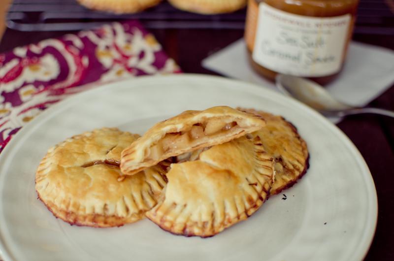 salted caramel apple hand pies-9
