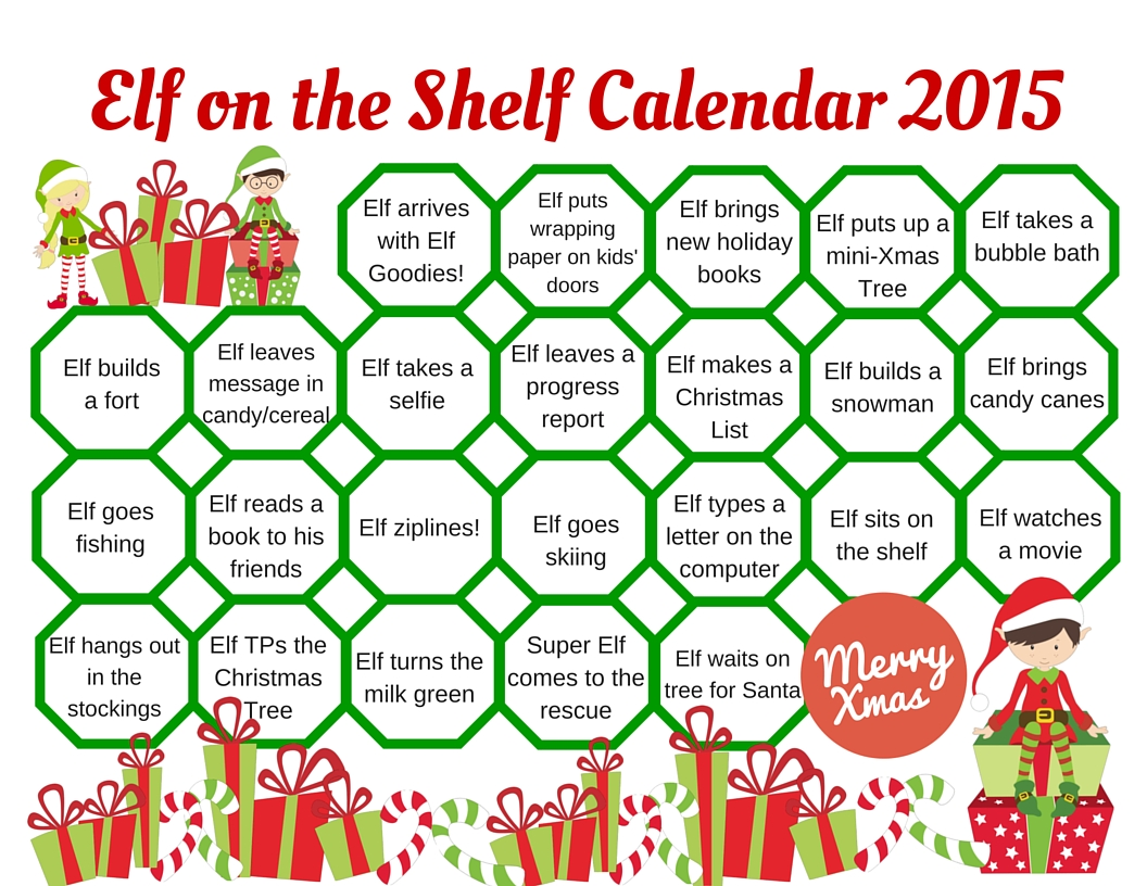 Elf on the Shelf Calendar 2015 (2)