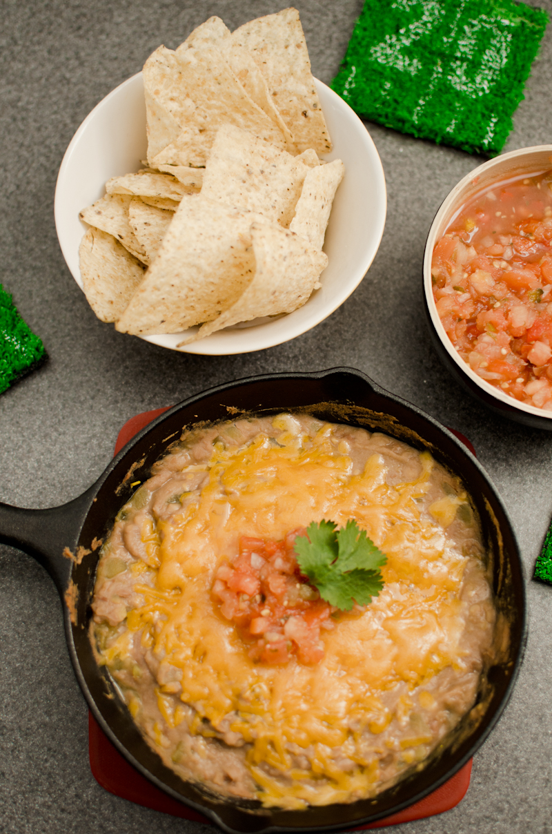 easy cheesy bean dip-8