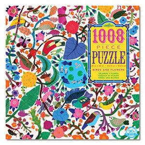 eeBoo Birds and Flowers 1008 Piece Puzzle
