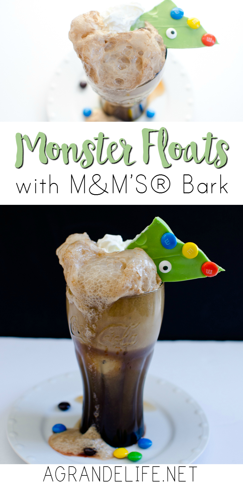 monster floats with m&ms bark