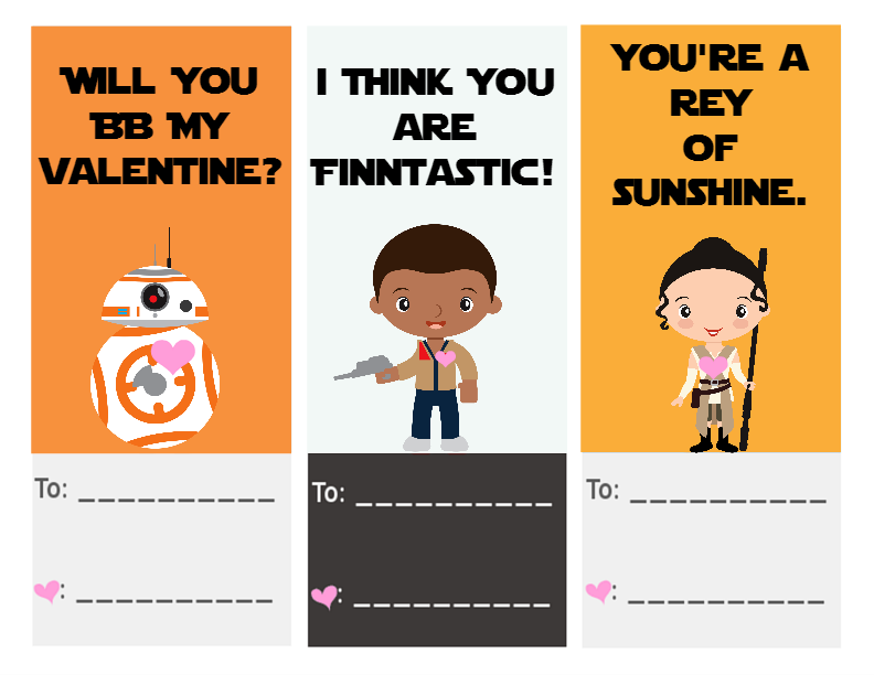 image relating to Star Wars Printable Cards named Star Wars: The Tension Awakens Absolutely free Printable Valentines - A
