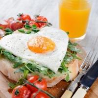 Heart-Shaped Egg Breakfast