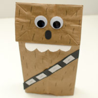 Chewbacca Paper Bag Puppet