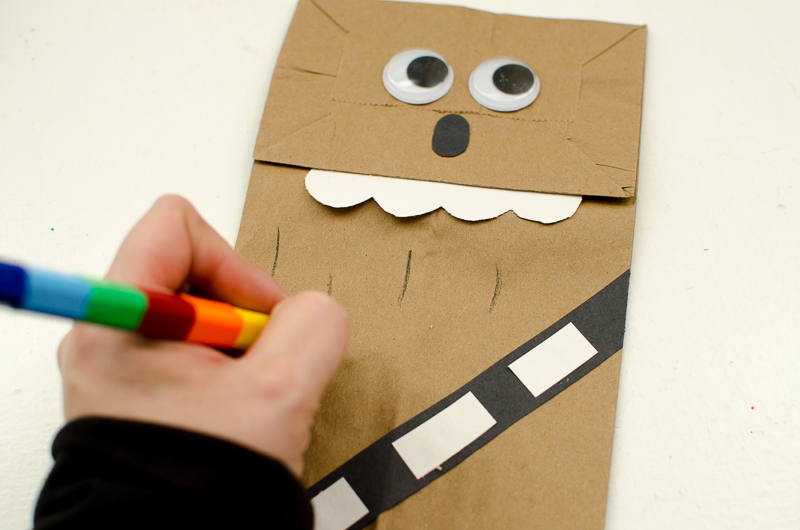 chewbacca paper bag puppet-8