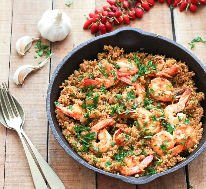 garlic-shrimp-and-quinoa