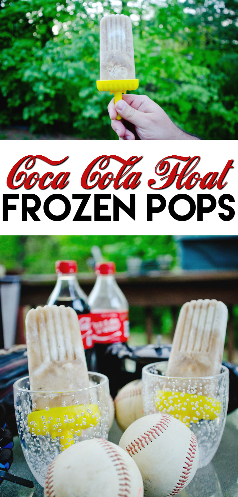 coca cola float frozen pops