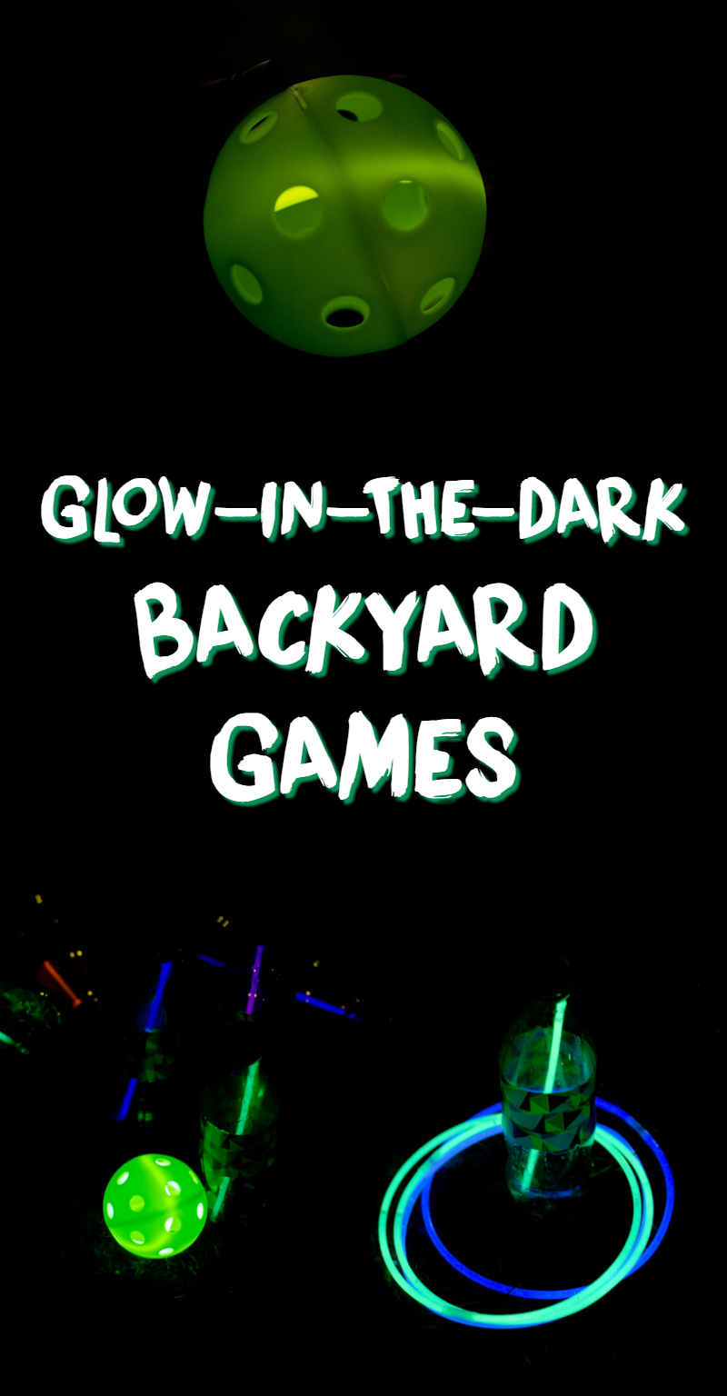 glow-in-the-dark backyard games