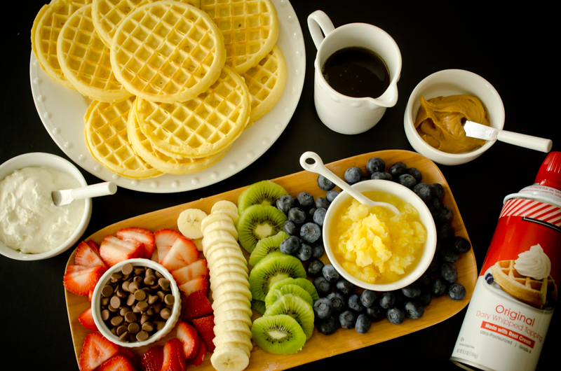 Waffle Breakfast Pizzas-2
