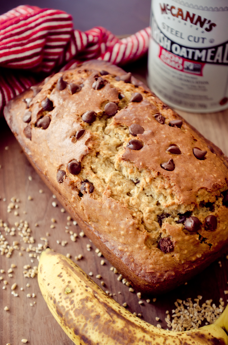 chocolate chip oatmeal banana bread-11