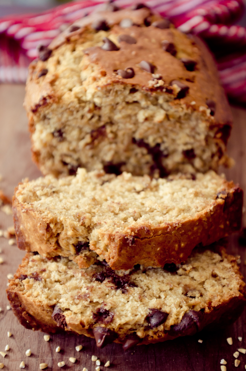 chocolate chip oatmeal banana bread-14
