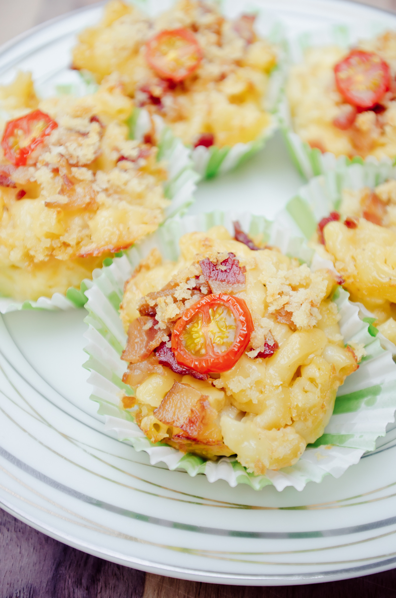 gouda and bacon mac and cheese cups-11