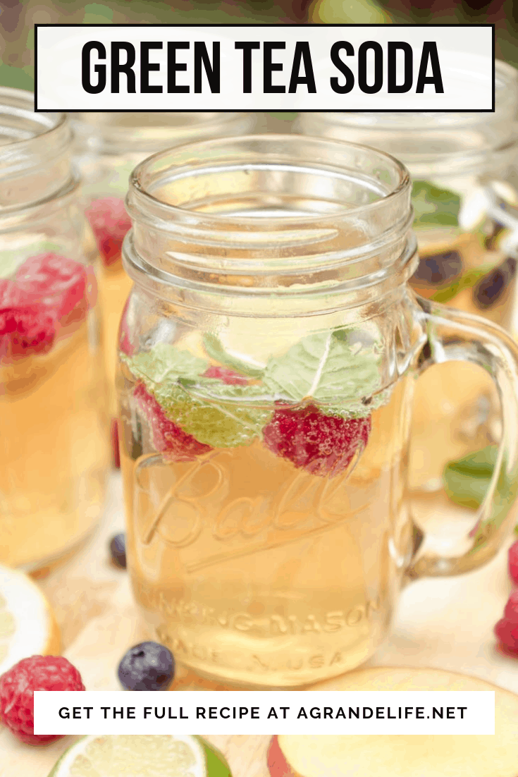 This simple soda recipe combines a few of my favorite flavors—fresh mint, green tea, and bright lemon.