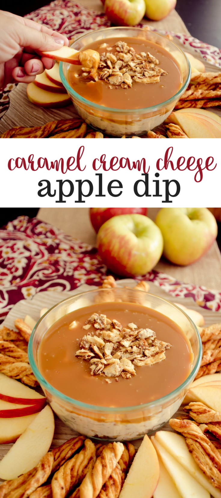 Make this easyCaramel Cream CheeseApple Dip for your next tailgating event or special occasion.