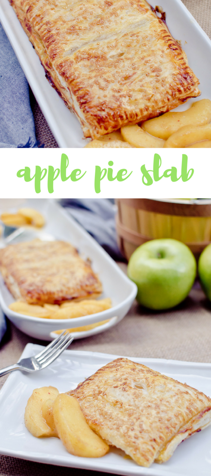 Apple Slab Pie! The perfect dessert for a crowd, plus more flaky crust in every bite.