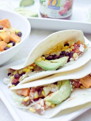 Honey-Lime Sweet Potato and Black Bean Tacos