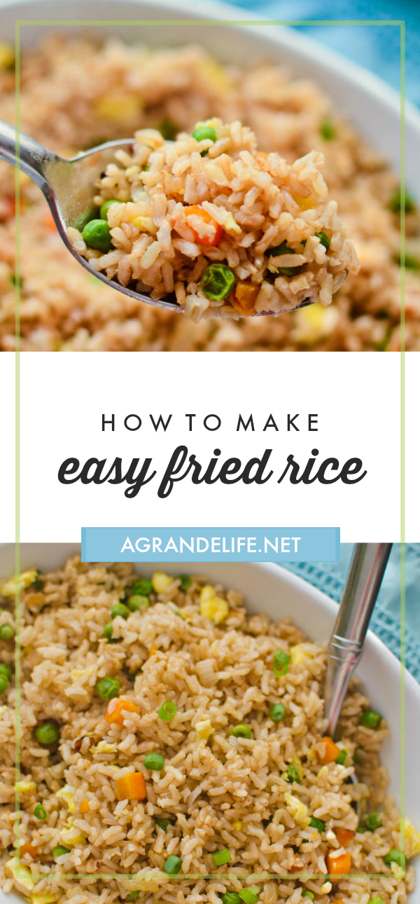 This easy fried rice recipe tastes like something you'd get at a Chinese restaurant. Fried rice is a great side-dish! Add some protein like beef or chicken and you have a quick and easy dinner.