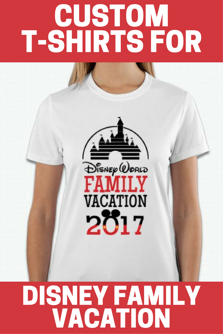 Custom Made T-Shirts for Disney Family Vacation
