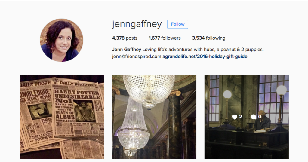 Follow Jenn Gaffney On Instagram