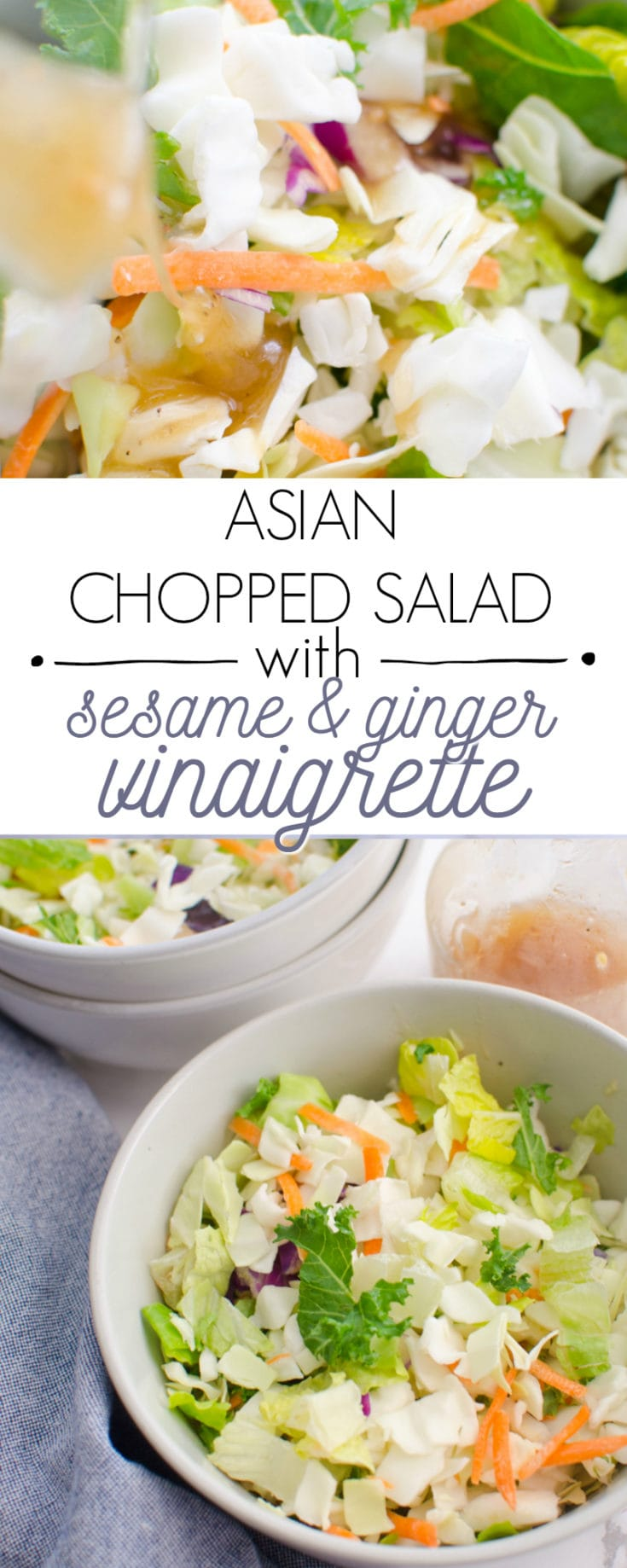 Asian Chopped Salad with Sesame and Ginger Vinaigrette