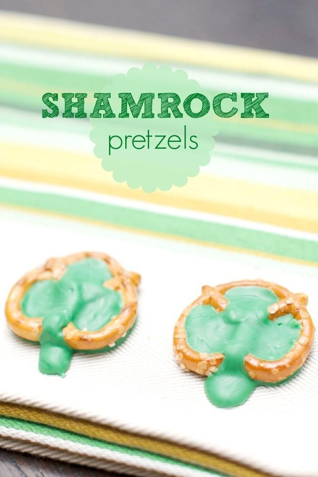 easy-kids-party-food-st-patricks-shamrock-pretzels