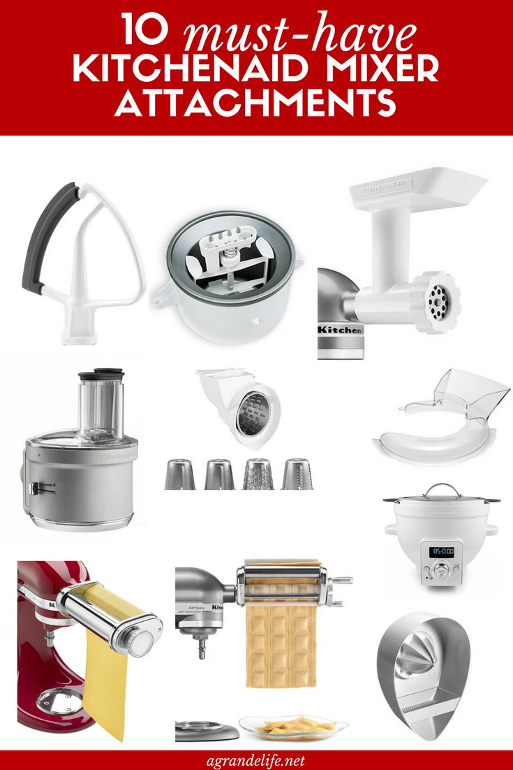 Kitchenaid Attachments 10 Musthave Kitchenaid Mixer Attachments  A Grande Life