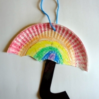 Paper Plate Umbrellas - Spring Craft for Kids