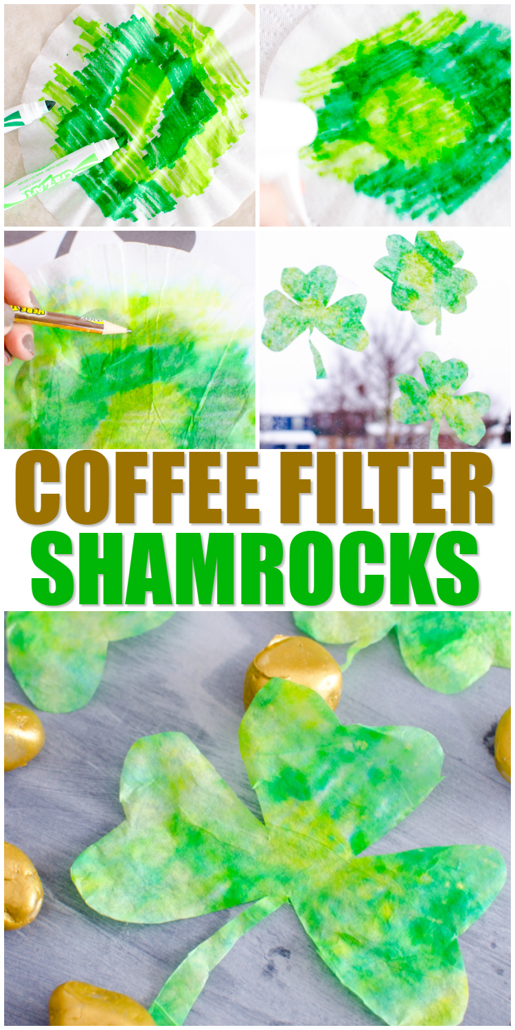 coffee filter shamrocks