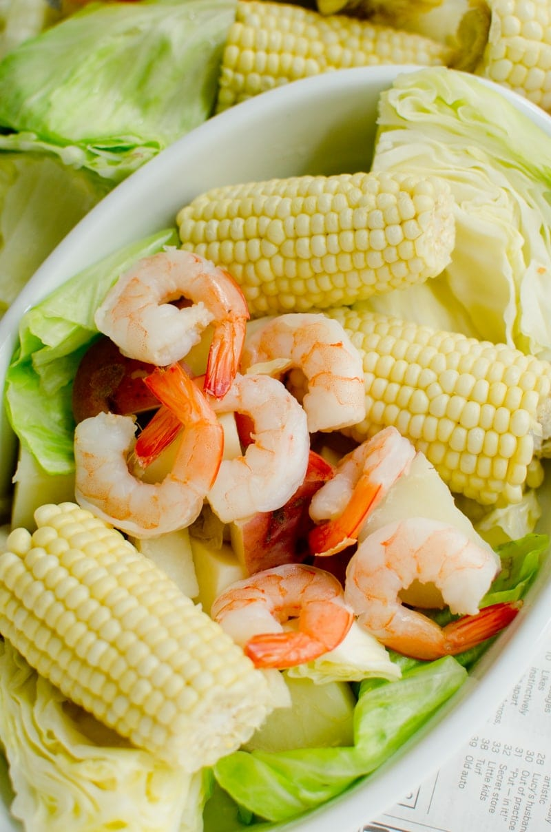 Beer-Boiled Shrimp with Fresh Corn-5