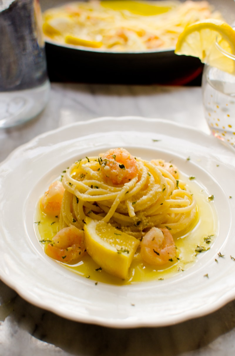 Lemon Spaghetti with Shrimp-4