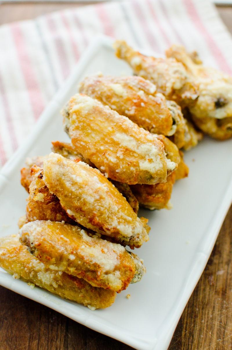baked garlic and parmesan wings-1