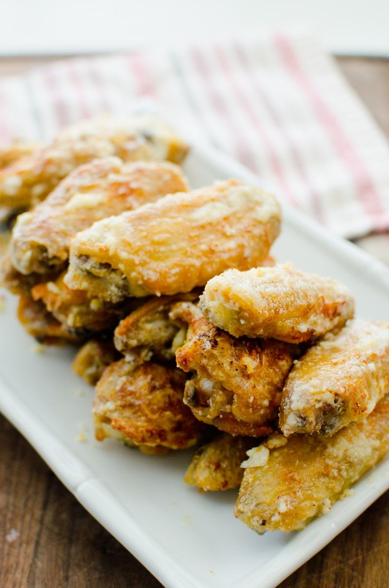 baked garlic and parmesan wings-3