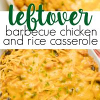 Leftover BBQ Chicken and Rice Casserole