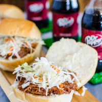Dr Pepper Slow Cooker Pulled Pork Sliders