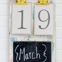 Colorful Chalkboard Calendar