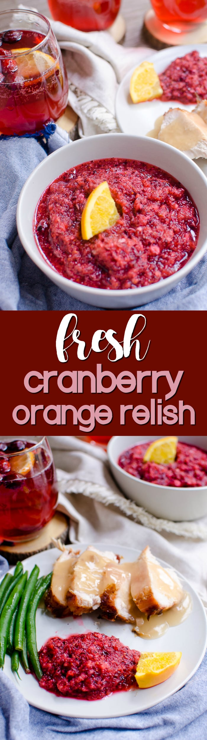 This sweet-tart cranberry orange relish is a simple and delicious addition to holiday menus.