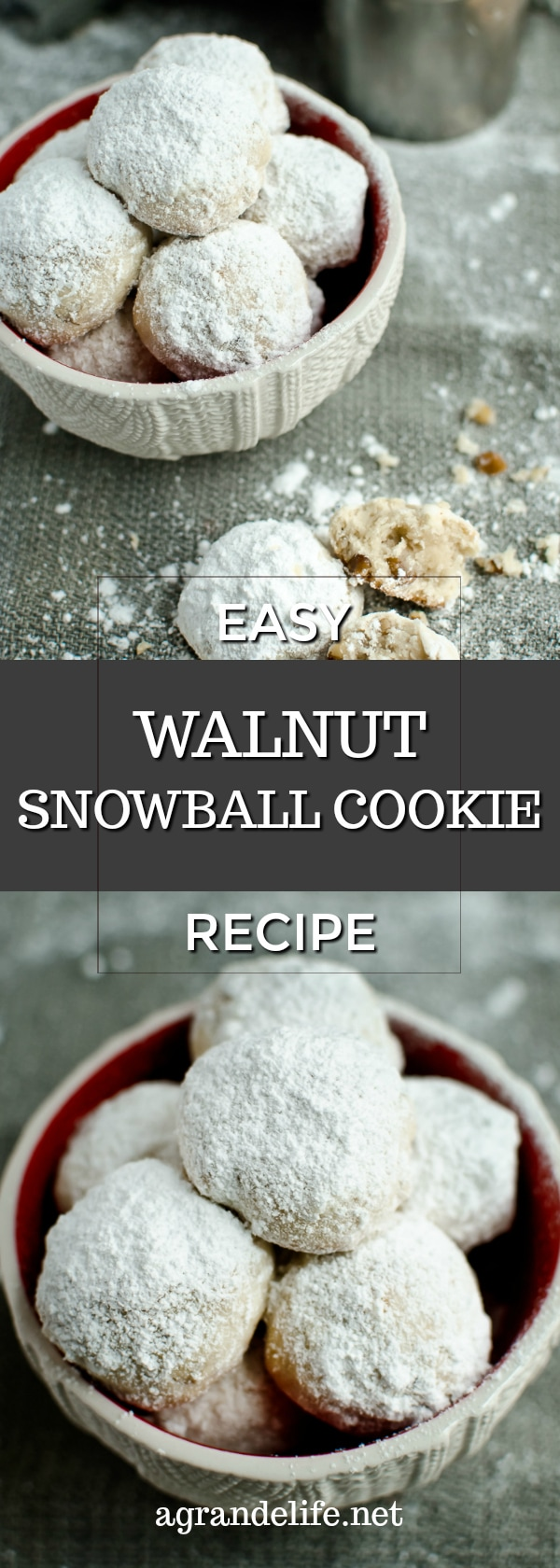 easy walnut snowball cookies recipe