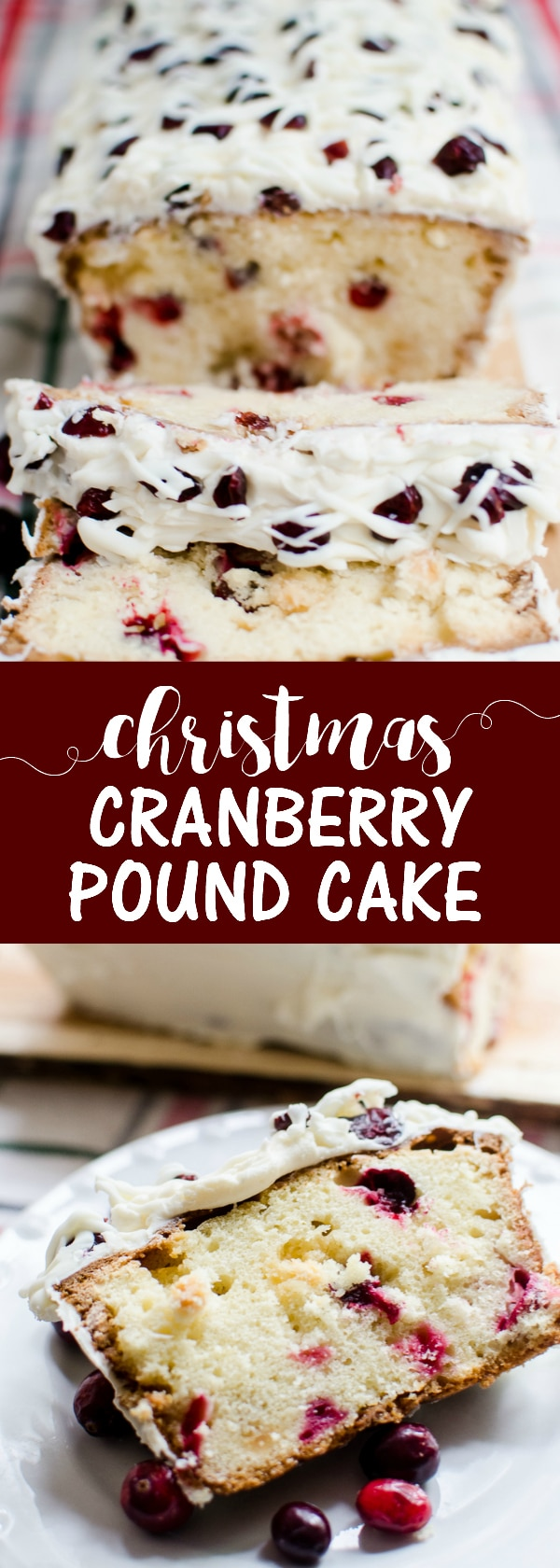 Take your pound cake up to a decadent Christmas Cranberry and White Chocolate Pound Cake!
