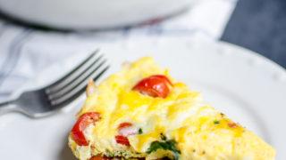 Easy Spinach & Tomato Frittata