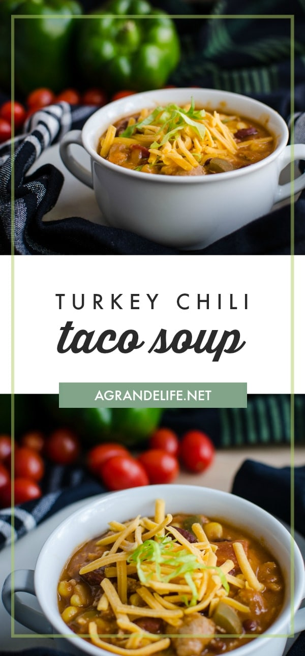 This turkey taco chili soup takes minutes to prep and can be enjoyed all week long. This simple & hearty chili recipe will become a staple in your weekly menu plan!