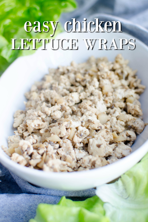 how to make chicken lettuce wraps easy