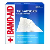 Tru-Absorb Gauze Sponges for Cleaning Wounds